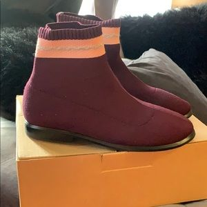 Zara's Maroon colored girls boots